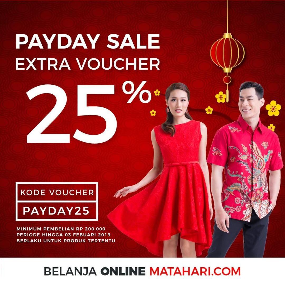 #Matahari - #Promo Special #Voucher Sale 25%  #Payday Januari 2019