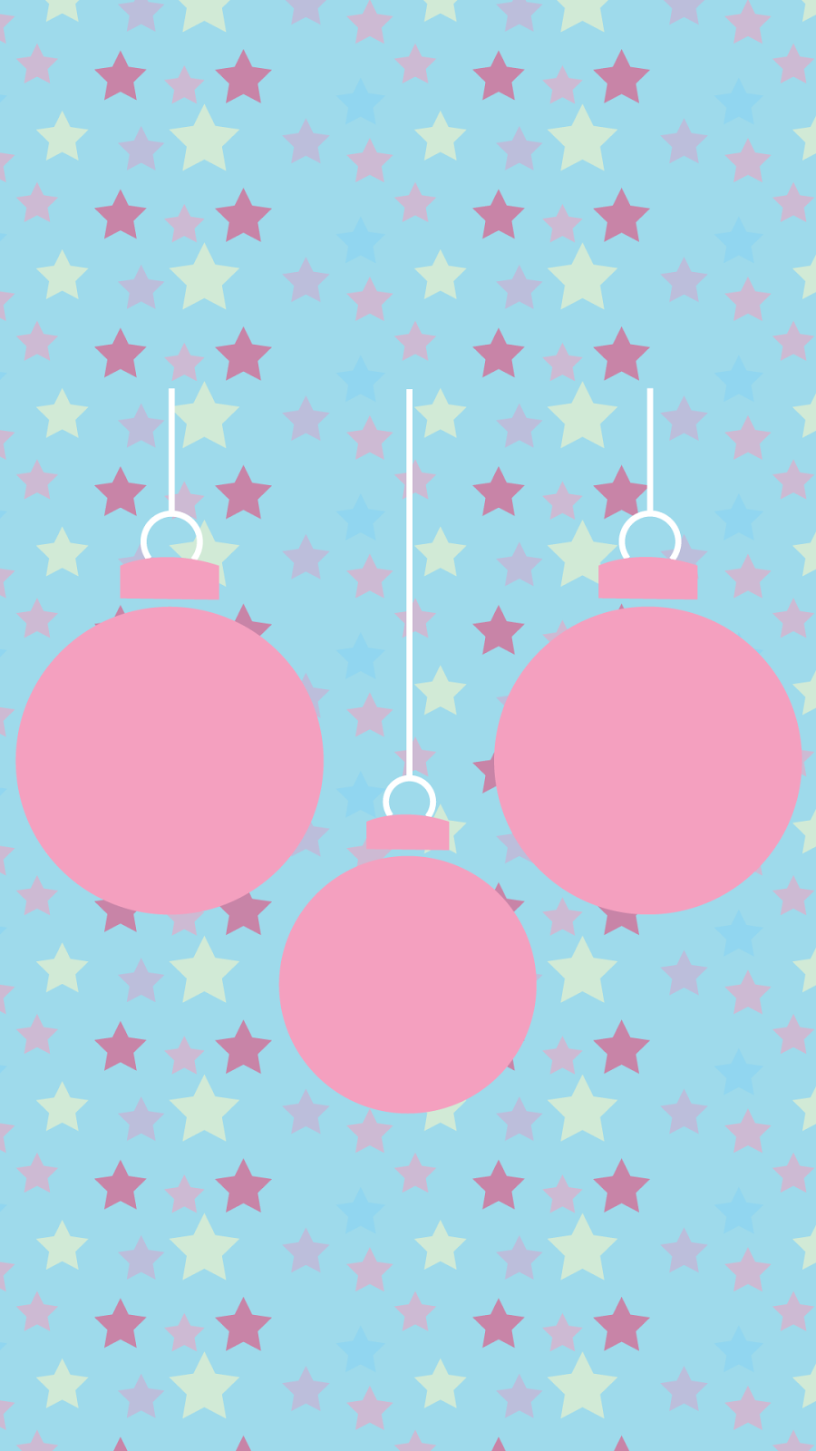 christmas baubles wallpaper mobile tablet
