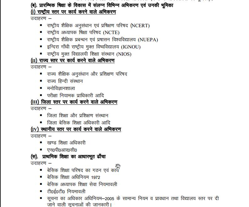 btc syllabus în hindi
