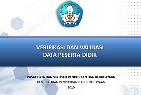 Panduan Terbaru Verval Peserta Didik (PD) 2016 PDSPK Kemdikbud
