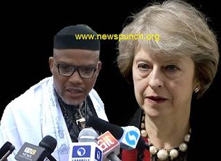 Nnamdi Kanu and Theresa May