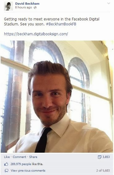 david beckham book launch facebook post