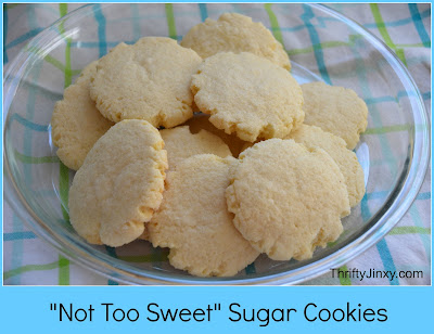 Not Too Sweet Sugar Cookies Recipe