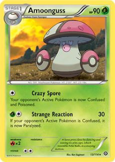 Amoonguss Steam Siege Pokemon Card