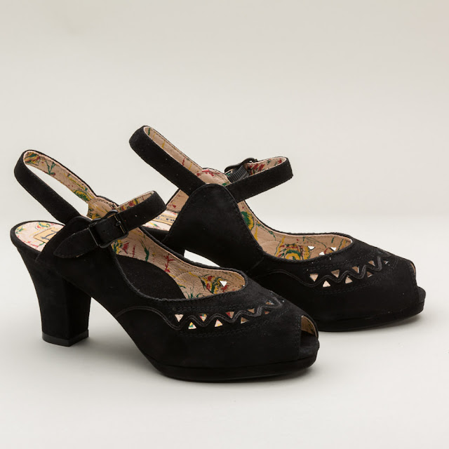 "Miss L Fire ""Betty"" 1940s Platform Shoes - $165 - RoyalVintageShoes.com"