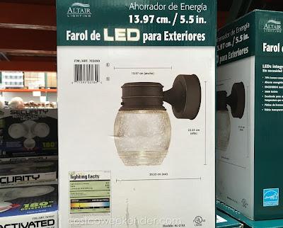 Costco 783890 - Altair Lighting AL-2152 Outdoor LED Lantern - Instant on at full brightness