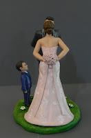 cake topper eleganti bambino torta statuine realistiche bouquet orme magiche