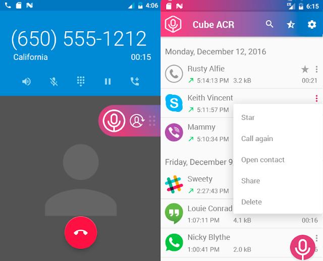 شرح تسجيل مكالمات واتس اب فيسبوك فايبر ولاين باستخدام تطبيق Cube Call Recorder