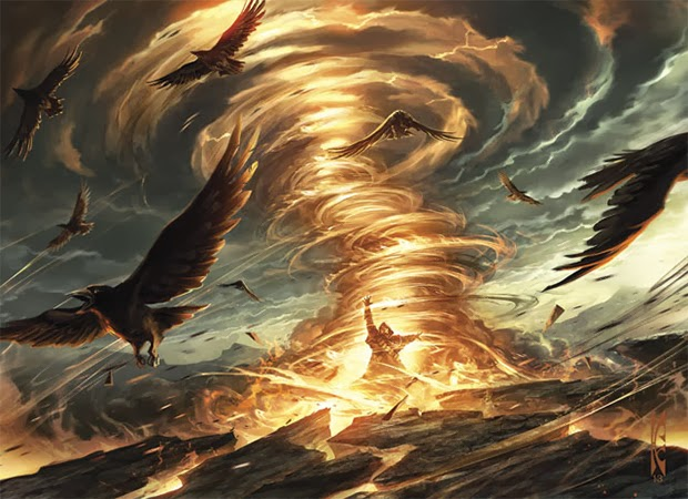 Magic the Gathering Annihilation glowing cyclone birds