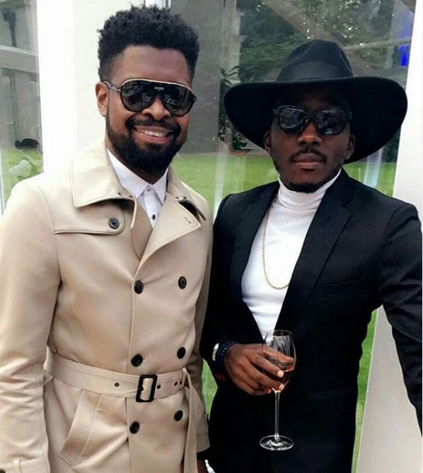 Comedians Basketmouth and Bovi in London, UK
