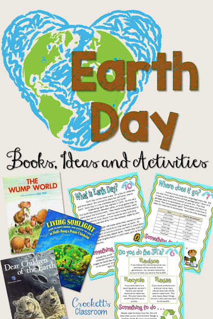 Earth Day should be every day.  These books and activities will help your students be a better Earth citizen every day of the year.