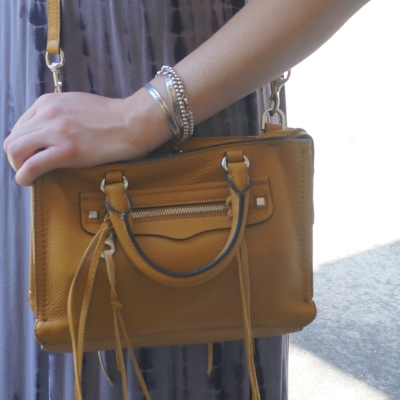 harvest gold mustard yellow Rebecca Minkoff micro Regan bag | AwayFromTheBlue