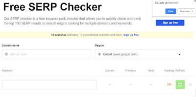 Çalışan Google Sıra Bulucu