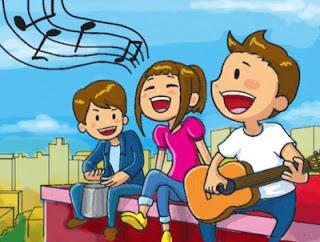 gambar anak bernyanyi