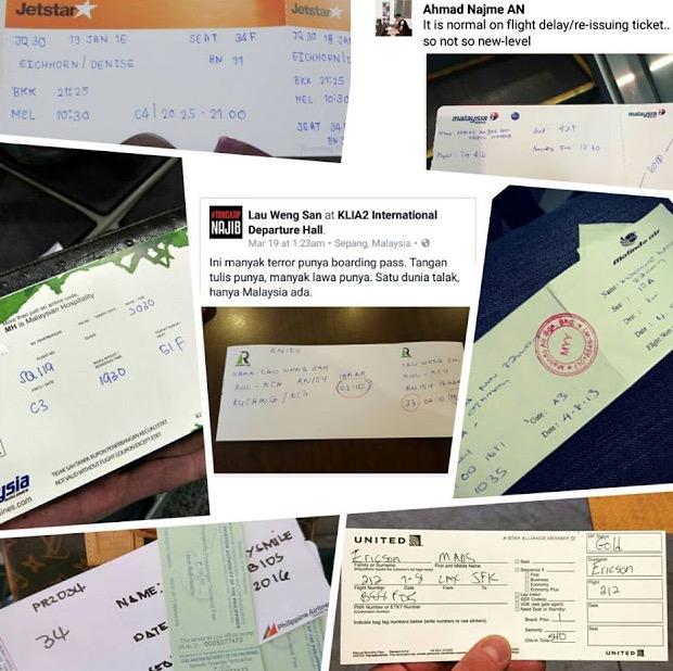 Tiket Penerbangan Tulisan Tangan Adalah Normal