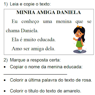 Texto MINHA AMIGA DANIELA, de Elisângela Terra