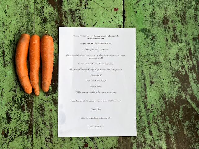 carrot supper club menu pic: Kerstin Rodgers/aka msmarmitelover