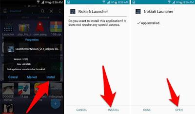 شرح تثبيت لانشر نوكيا 6 على جوالك