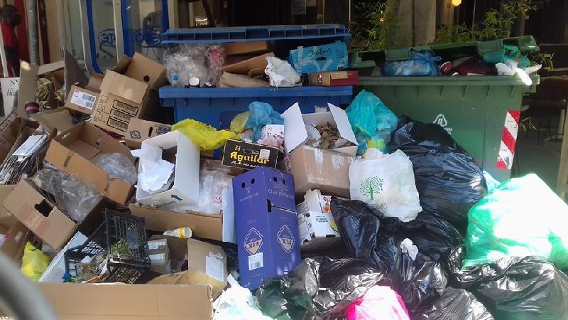 Ο εφιάλτης των σκουπιδιών ξεπροβάλλει και πάλι στη Λάρισα - Αποφασίστηκαν νέες κινητοποιήσεις των εργαζομένων