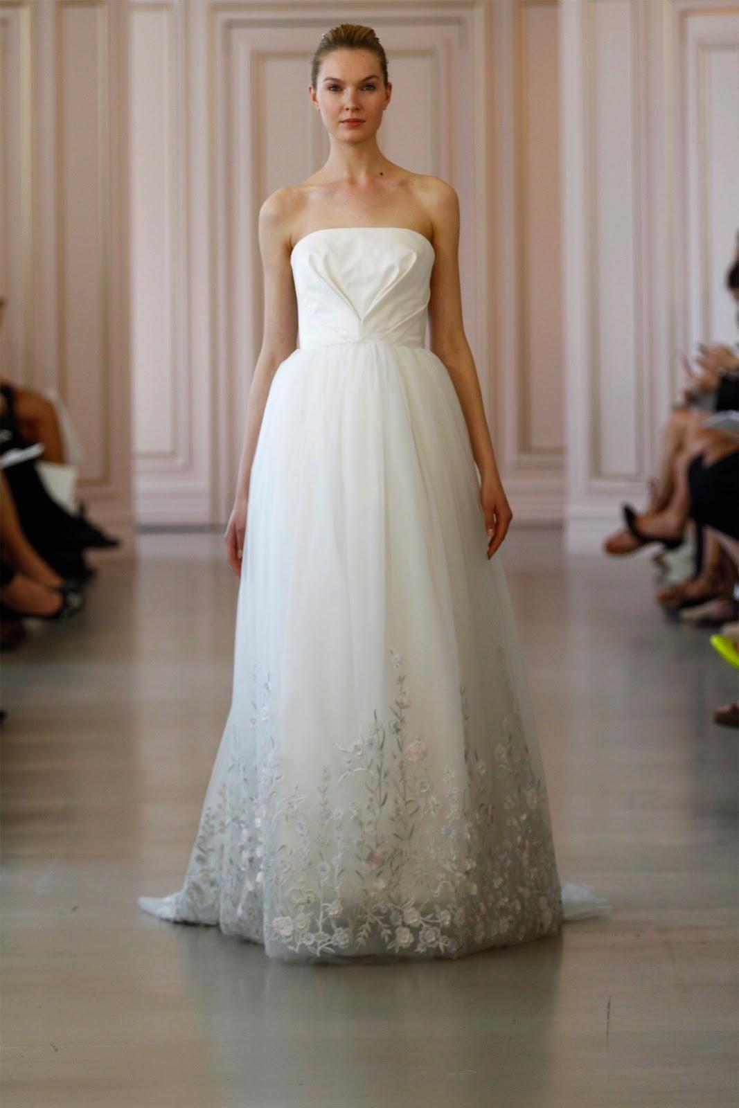 Bridal Wear   New Bridal Dresses For Spring Brides 2016 By Oscar ...