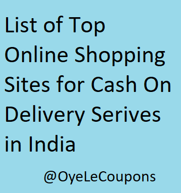 Top Online Shopping Sites in India Cash on Delivery