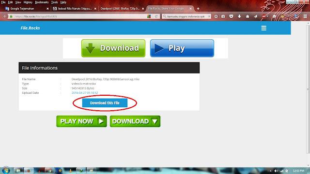 Cara Download di Ganool.sc Melalui FileRock