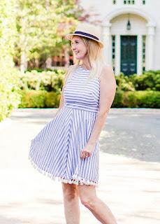 Striped Tassel Dress