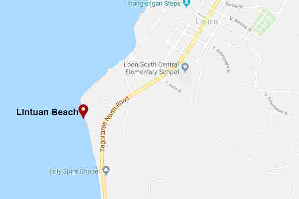 Lintuan White Beach Loon Bohol Philippines Map Quiet and Best White Beach Lintuan Loon Bohol Philippines 2018 How to get there