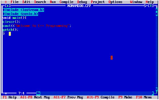 Mengkompilasi dan menjalankan program C ++
