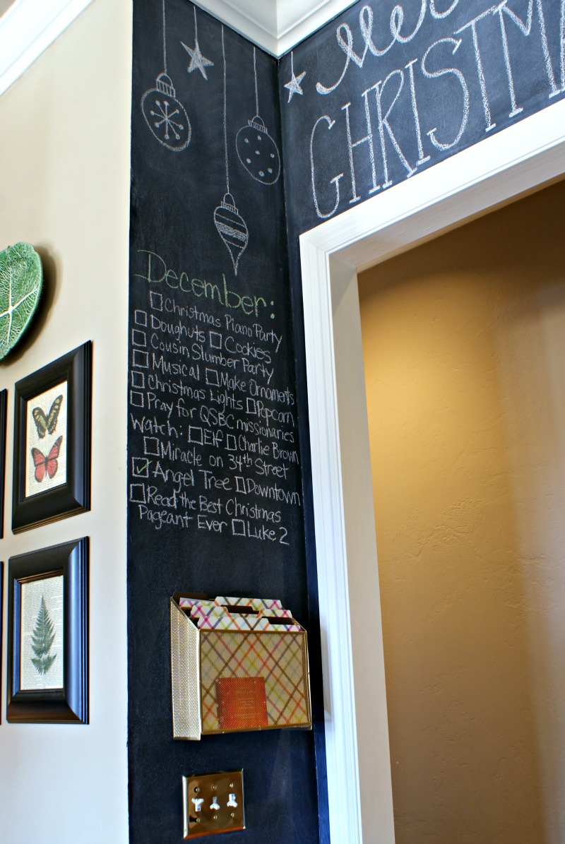 glamorous chalkboard wall kitchen | KITCHEN CHALKBOARD WALL - Dimples and Tangles