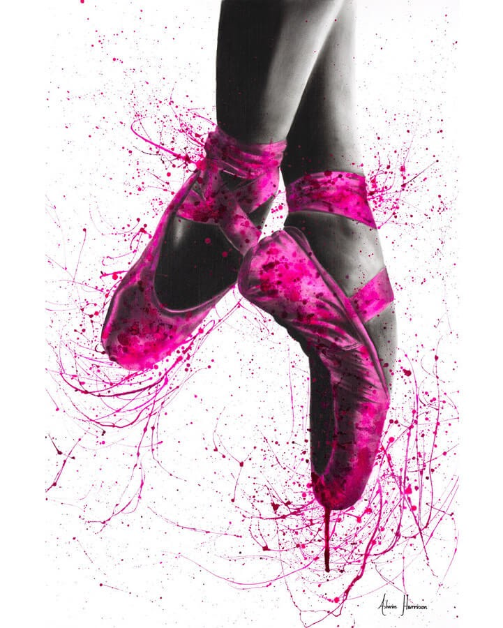 05-Ballet-Shoes-Ashvin-Harrison-Acrylic-Paintings-www-designstack-co