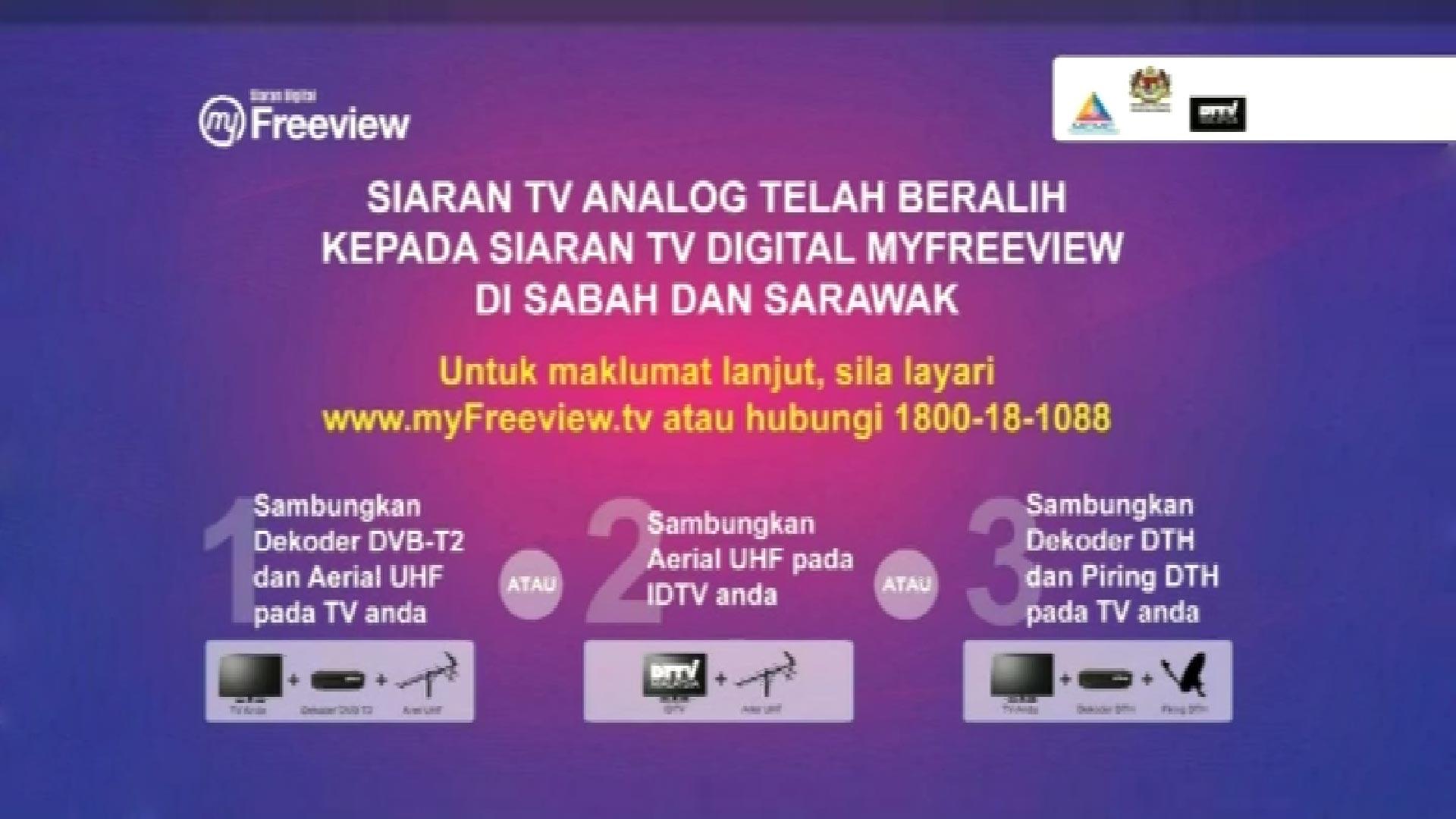TV3 RTM Malaysia Hilang dari Measat 3 Pindah DVBT2