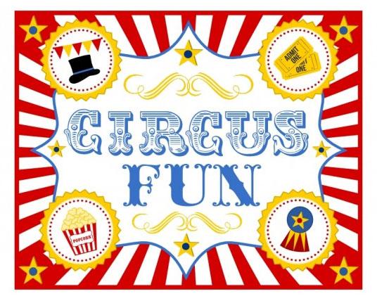carte invitation anniversaire cirque gratuit