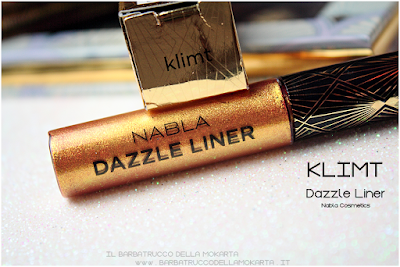KLIMT pareri eyeliner gold  goldust collection Nabla cosmetics