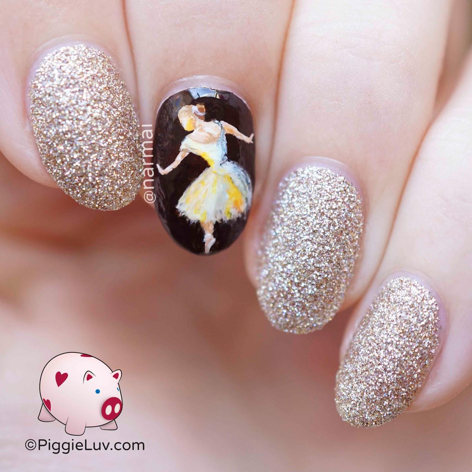 Piggieluv Ballerina Nail Art