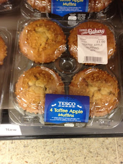 tesco toffee apple muffins
