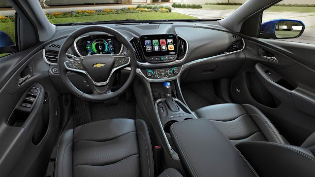 Interior view of 2016 Chevrolet Volt