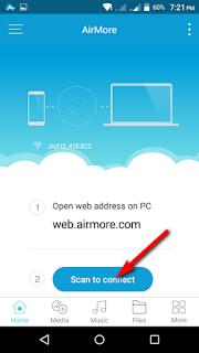 airmore access मोबाइल pc