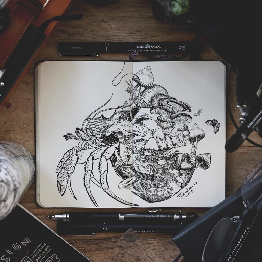 06-Lobster-Shelter-Joseph-Catimbang-Doodle-Drawings-make-the-World-go-Round-www-designstack-co