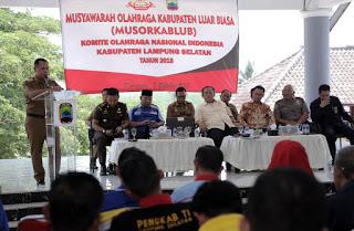 Rudi Apriandi,ResmiJabat Ketua Koni Lamsel 2018-2023.
