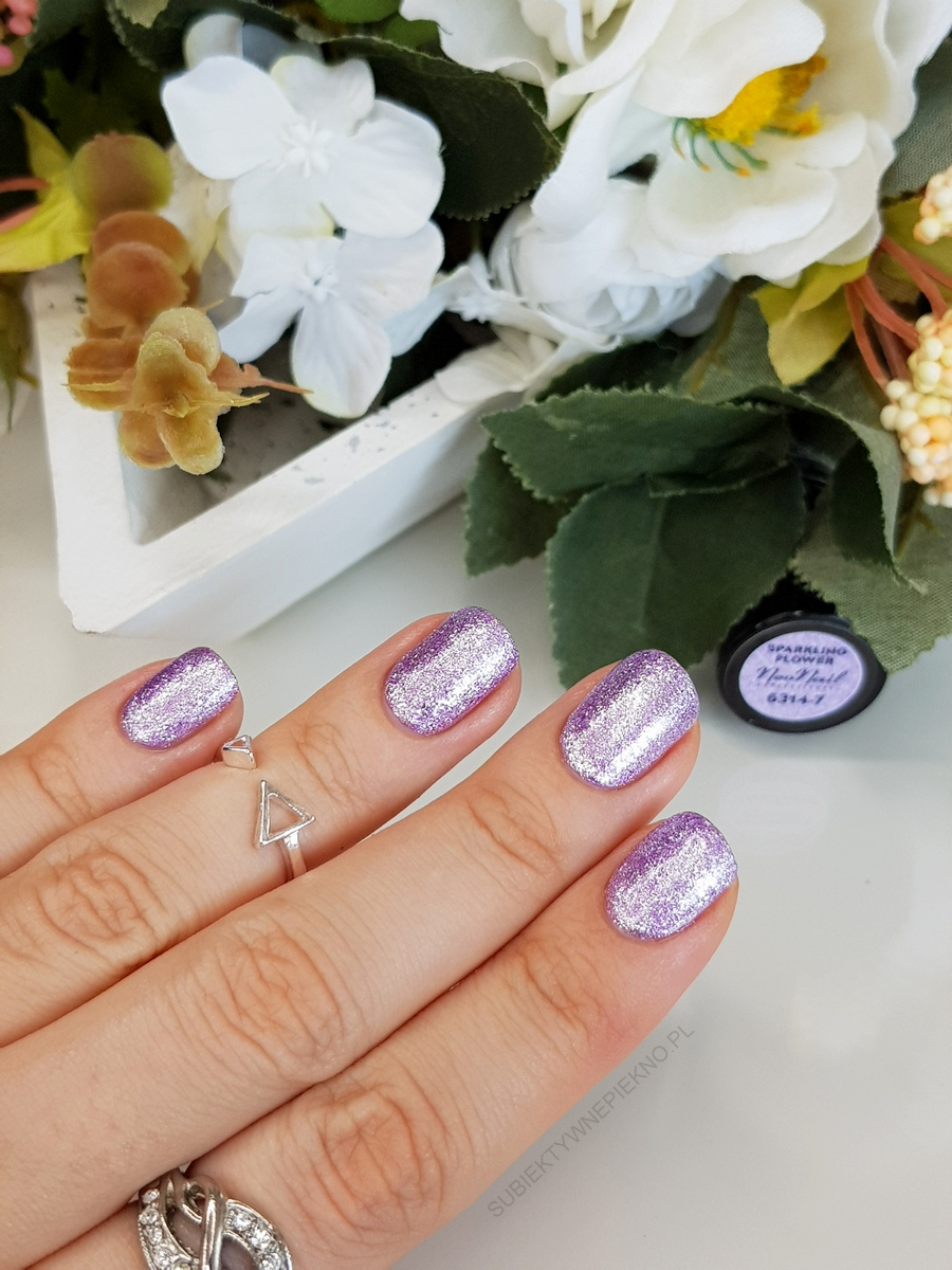 SPARKLING FLOWER NeoNail 6314 Kolekcja Think Blink! - swatche na paznokciach