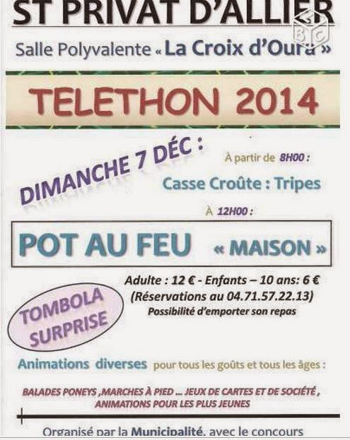 Téléthon 2014: Saint Privat d'Allier, 03