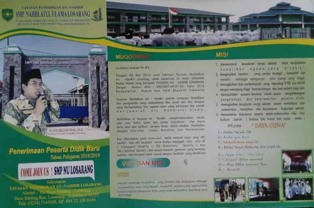 SMP NU Losarang Membuka Pendaftaran PPDB Tahun Pelajaran 2019/2020