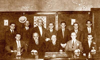 Participantes en el Torneo Nacional de Ajedrez de Barcelona 1926