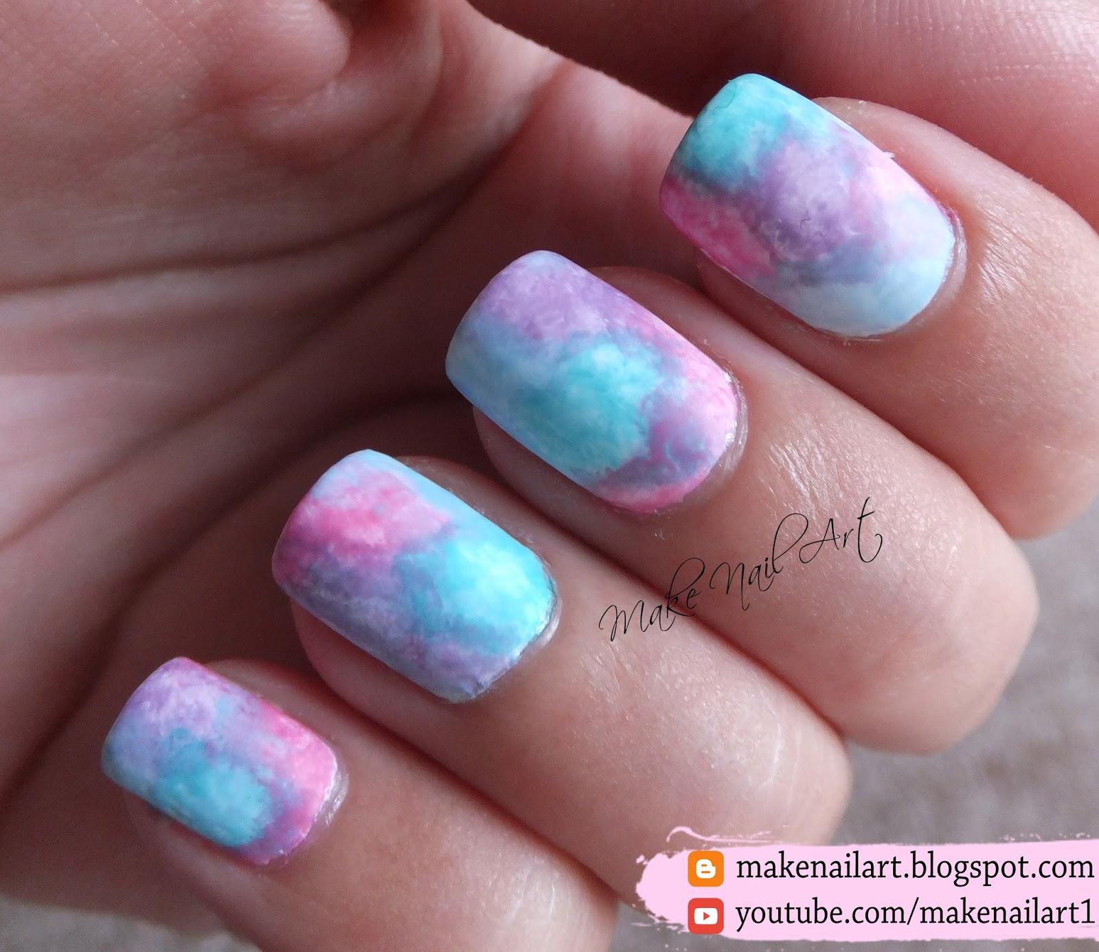 how to make watercolor nail polish