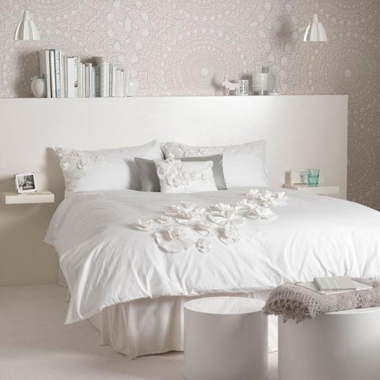 Lindos dormitorios en color blanco dormitorios colores y - Habitaciones en blanco ...