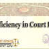 Deficiency in Court Fee