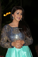 Nikki Galrani in Green Skirt  Top at Marakathamani music launch ~  Exclusive (91).JPG