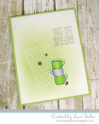 One Cup at a Time card-designed by Lori Tecler/Inking Aloud-stamps and dies from Verve Stamps
