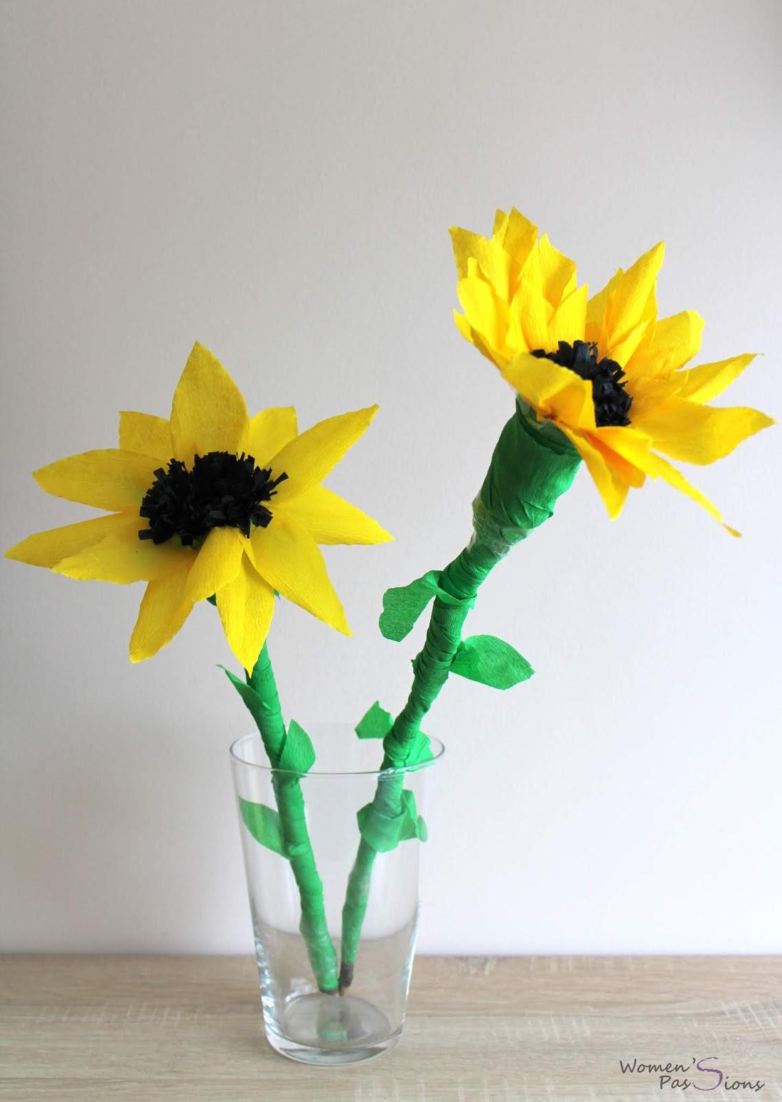 słonecznik z bibuły